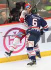 Čtvrtfinále play off hokejové extraligy - 1. zápas: HC Oceláři Třinec - HC Vítkovice Ridera, 20. března 2019 v Třinci. Na snímku Jan Výtisk.