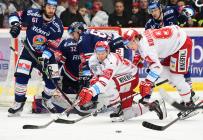 Čtvrtfinále play off hokejové extraligy - 1. zápas: HC Oceláři Třinec - HC Vítkovice Ridera, 20. března 2019 v Třinci.