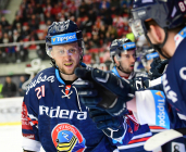 Čtvrtfinále play off hokejové extraligy - 1. zápas: HC Oceláři Třinec - HC Vítkovice Ridera, 20. března 2019 v Třinci. Na snímku Radoslav Tybor.