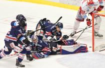 Čtvrtfinále play off hokejové extraligy - 2. zápas: HC Oceláři Třinec - HC Vítkovice Ridera, 21. března 2019 v Třinci. Foto: Petr Kotala