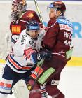 Jan Schleiss, Tomáš Pavelka - Generali play off, 1. předkolo, Po 11.3.2019, HC VÍTKOVICE RIDEARA - HC Sparta Praha. Foto: Petr Kotala