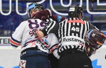 Tomáš Dvořák, Jan Schleiss - Generali play off, 1. předkolo, Po 11.3.2019, HC VÍTKOVICE RIDEARA - HC Sparta Praha. Foto: Petr Kotala