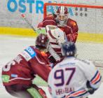 brankář Sparty Matěj Machovský - Generali play off, 2. předkolo, Út 12.3.2019, HC VÍTKOVICE RIDEARA - HC Sparta Praha. Foto: Petr Kotala