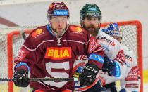 Roberts Bukarts, Jan Výtisk - Generali play off, 2. předkolo, Út 12.3.2019, HC VÍTKOVICE RIDEARA - HC Sparta Praha. Foto: Petr Kotala