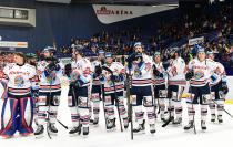 Čtvrtfinále play off hokejové extraligy - 4. zápas: HC Vítkovice Ridera - HC Oceláři Třinec, 25. března 2019 v Ostravě. Foto: Petr Kotala