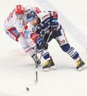 Štěpán Novotný a Roberts Bukarts - 46. kolo Tipsport Extraligy HC Oceláři Třinec - HC VÍTKOVICE RIDERA, 16. února 2020 v Třinci.
