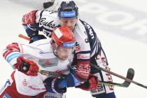 Petr Vrána a Jan Hruška - 46. kolo Tipsport Extraligy HC Oceláři Třinec - HC VÍTKOVICE RIDERA, 16. února 2020 v Třinci.