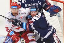Tomáš Marcinko a Petr Šidlík - 19. kolo Tipsport Extraligy HC VÍTKOVICE RIDERA - HC DYNAMO PARDUBICE, 17. listopadu 2019 v Ostravě.