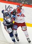 Tomáš Guman a David Musil - 20. kolo Tipsport Extraligy HC Oceláři Třinec - HC VÍTKOVICE RIDERA , 21. listopadu 2019 v Třinci.