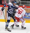 Blaž Gregorc a David Kofroň - 20. kolo Tipsport Extraligy HC Oceláři Třinec - HC VÍTKOVICE RIDERA , 21. listopadu 2019 v Třinci.
