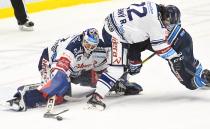Miroslav Svoboda a Robert Černý - 29. kolo HC VÍTKOVICE RIDERA - Bílí Tygři Liberec, 21. ledna 2020 v Ostravě.