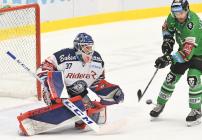 Daniel Dolejš a Michal Vondrka - 23. kolo Tipsport Extraligy HC VÍTKOVICE RIDERA - BK Mladá Boleslav, 28. listopadu 2019 v Ostravě.