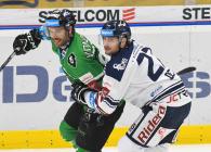 Michal Vondrka a Rastislav Dej - 23. kolo Tipsport Extraligy HC VÍTKOVICE RIDERA - BK Mladá Boleslav, 28. listopadu 2019 v Ostravě.