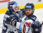 Miroslav Svoboda a Petr Šidlík - 13. kolo Tipsport Extraligy HC VÍTKOVICE RIDERA - MOUNTFIELD HK, 25. října 2019 v Ostravě.