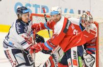 Alexandre Mallet a Jan Kolář - 19. kolo Tipsport Extraligy HC VÍTKOVICE RIDERA - HC DYNAMO PARDUBICE, 17. listopadu 2019 v Ostravě.
