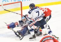 Miroslav Svoboda a David Kvasnička - 19. kolo Tipsport Extraligy HC VÍTKOVICE RIDERA - HC DYNAMO PARDUBICE, 17. listopadu 2019 v Ostravě.
