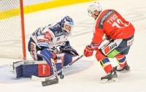 Miroslav Svoboda a Radoslav Tybor - 19. kolo Tipsport Extraligy HC VÍTKOVICE RIDERA - HC DYNAMO PARDUBICE, 17. listopadu 2019 v Ostravě.