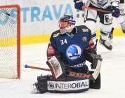Brankář Plzně Dominik Frodl - 47. kolo HC VÍTKOVICE RIDERA - HC ŠKODA PLZEŇ, 21. února 2020 v Ostravě.