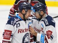 Ondřej Roman a Rastislav Dej - 9. kolo Tipsport Extraligy HC VÍTKOVICE RIDERA - HC Sparta Praha, 11. října 2019 v Ostravě.