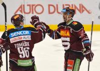 David Tomášek a Michal Řepík - 22. kolo Tipsport Extraligy HC VÍTKOVICE RIDERA - HC Sparta Praha, 27. listopadu 2019 v Ostravě.