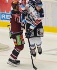 Lukáš Pech a Dominik Lakatoš - 22. kolo Tipsport Extraligy HC VÍTKOVICE RIDERA - HC Sparta Praha, 27. listopadu 2019 v Ostravě.