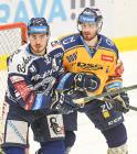 Dominik Lakatoš a Martin Novotný z PSG Berani Zlín - 41. kolo HC VÍTKOVICE RIDERA - PSG Berani Zlín, 28. ledna 2020 v Ostravě.