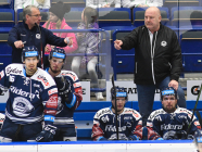 Trenér Vítkovic Mojmír Trličík a asistent trenéra Vítkovic Ladislav Svozil - 41. kolo HC VÍTKOVICE RIDERA - PSG Berani Zlín, 28. ledna 2020 v Ostravě.