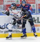 Blaž Gregorc a Šimon Kratochvil - 15. kolo Tipsport Extraligy HC VÍTKOVICE RIDERA - PSG Berani Zlín, 29. října 2019 v Ostravě.