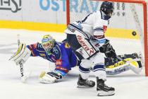 Daniel Huf a Šimon Stránský - 15. kolo Tipsport Extraligy HC VÍTKOVICE RIDERA - PSG Berani Zlín, 29. října 2019 v Ostravě.