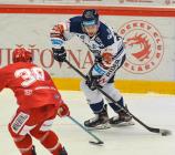 Jan Hruška z Vítkovic - 42. kolo Tipsport Extraligy HC Oceláři Třinec -  HC VÍTKOVICE RIDERA, 2. ledna 2021 v Třinci.