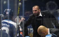 Asistent trenéra Vítkovic Roman Šimíček - 33. kolo Tipsport Extraligy HC VÍTKOVICE RIDERA - BK Mladá Boleslav, 8. ledna 2021 v Ostravě.