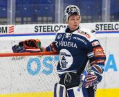 Brankář Daniel Dolejš z Vítkovic - 33. kolo Tipsport Extraligy HC VÍTKOVICE RIDERA - BK Mladá Boleslav, 8. ledna 2021 v Ostravě.