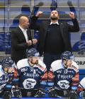 Trenér Vítkovic Miloš Holáň a asistent trenéra Roman Šimíček - 33. kolo Tipsport Extraligy HC VÍTKOVICE RIDERA - BK Mladá Boleslav, 8. ledna 2021 v Ostravě.