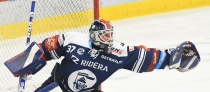 Brankář Vítkovic Daniel Dolejš - 2. předkolo Generali Česká pojišťovna play off HC VÍTKOVICE RIDERA - HC kometa Brno, 11. března 2021 v Ostravě.
