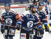 Alexandre Mallet, Roman Polák a Marek Kalus z Vítkovic - 5. předkolo Generali Česká pojišťovna play off HC VÍTKOVICE RIDERA - HC kometa Brno, 16. března 2021 v Ostravě.