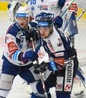 Tomáš Bartejs z Brna a Marek Kalus z Vítkovic - 5. předkolo Generali Česká pojišťovna play off HC VÍTKOVICE RIDERA - HC kometa Brno, 16. března 2021 v Ostravě.