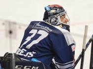 Brankář Vítkovic Daniel Dolejš - 5. předkolo Generali Česká pojišťovna play off HC VÍTKOVICE RIDERA - HC kometa Brno, 16. března 2021 v Ostravě.