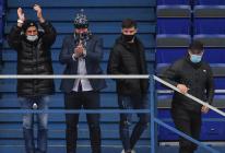 Zbyněk Irgl, Roman Polák, Peter Šišovský a Lukáš Krenželok z Vítkovic - 27. kolo Tipsport Extraligy HC VÍTKOVICE RIDERA - HC Litvínov, 13. prosince 2020 v Ostravě.