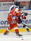 Nicolas Werbik z HC VÍTKOVICE RIDERA a Jan Bambula z HC Olomouc - Přípravné utkání  HC VÍTKOVICE RIDERA - HC Olomouc, 10. září 2020, Ostravar aréna.