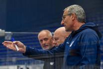 Trenér Vítkovic Mojmír Trličík Přípravné utkání  HC VÍTKOVICE RIDERA - HC Olomouc, 10. září 2020, Ostravar aréna.