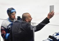 Asistent trenéra Vítkovic Roman Šimíček - 38. kolo Tipsport Extraligy HC VÍTKOVICE RIDERA - HC Olomouc, 22. ledna 2021 v Ostravě.