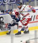 Vladimír Svačina z Vítkovic a David Škůrek z HC Olomouc - 38. kolo Tipsport Extraligy HC VÍTKOVICE RIDERA - HC Olomouc, 22. ledna 2021 v Ostravě.