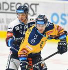 Lukáš Kovář z Vítkovic a Bedřich Köhler ze Zlína - 36. kolo Tipsport Extraligy HC VÍTKOVICE RIDERA - PSG Berani Zlín, 17. ledna 2021 v Ostravě.