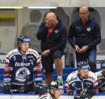 Alexandre Mallet a asistent trenéra Vítkovic Ladislav Svozil - GENERALI ČESKÁ CUP - SKUPINA D, HC Vítkovice Ridera - PSG Berani Zlín, 18. srpna v Ostravě.