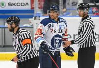 Jan Hruška z Vítkovic - HC VÍTKOVICE RIDERA - HC Olomouc, Letní hokejové hry 2021, 24. srpna 2021 v Ostravě.